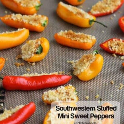 Southwestern Stuffed Mini Sweet Peppers