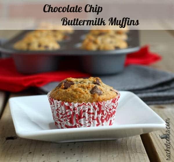 Chocolate Chip Buttermilk Muffins | RachelCooks.com