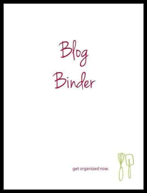 FREE Printables to get your blog organized | RachelCooks.com
