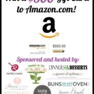 $500 Amazon Gift Card Giveaway | RachelCooks.com