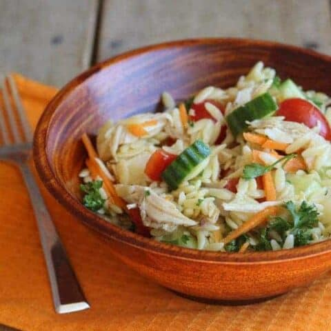 Orzo Salad with Chicken and Vegetables