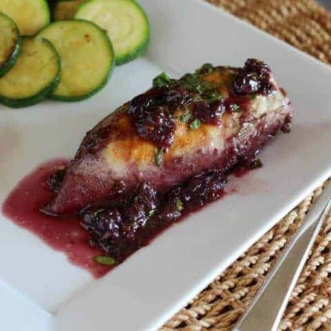 Chicken with Blueberry Chipotle Sauce