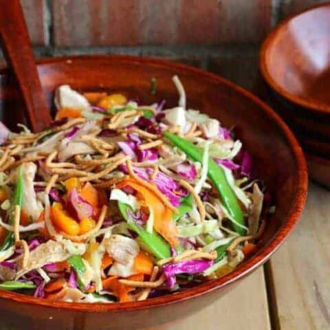 Easy Cabbage Salad using Rotisserie Chicken | RachelCooks.com