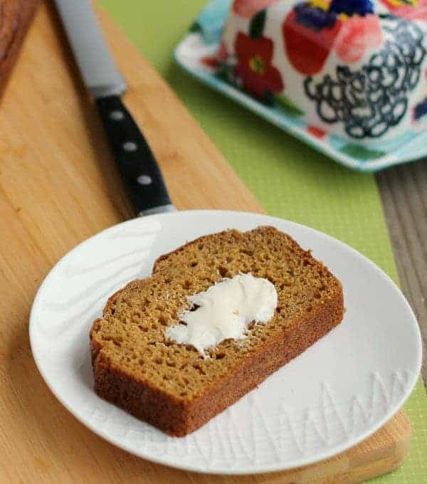 Healthier Pumpkin Bread - makes two loaves and freezes great! Get the easy whole wheat recipe on RachelCooks.com
