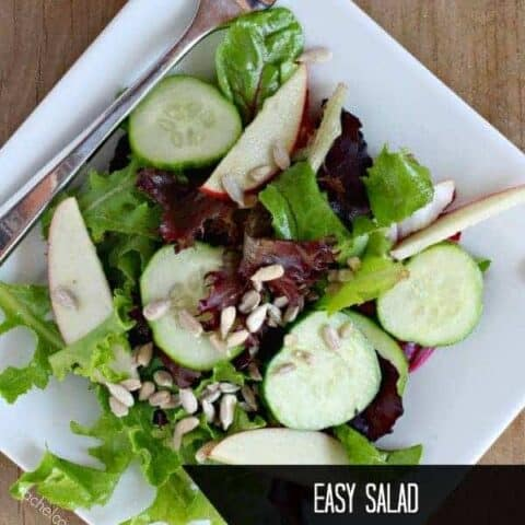 Salad with Apples and Cucumber