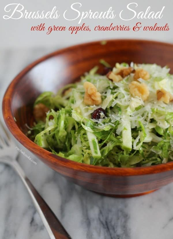 With only 15 minutes of hands-on time, this refreshing Brussels sprouts salad will make the perfect holiday side dish. Get the easy recipe on RachelCooks.com!