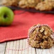 These apple crisp breakfast cookies give you all the flavors of apple crisp in one tasty, portable, healthy little package. Eat one for breakfast and your day is already off to a great start. Get the easy recipe on RachelCooks.com!