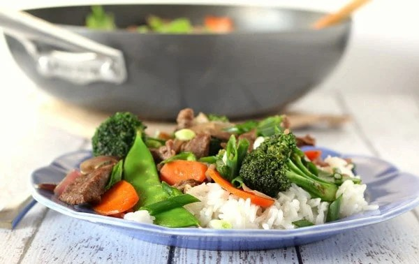 Stir-fry is easy to make once you learn the basics. Start with this easy Beef and Vegetable stir-fry recipe and you'll gain confidence quickly. Get the recipe on RachelCooks.com!