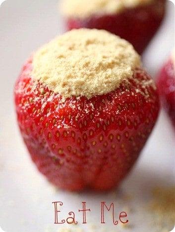 Cheesecake Stuffed Strawberries from NutmegNanny.com