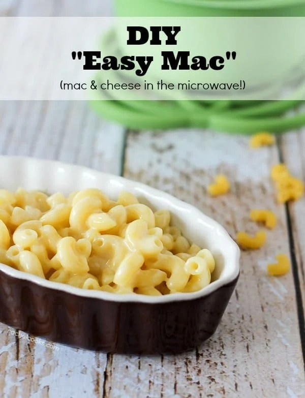 Homemade Easy Mac! Learning how to make Mac and Cheese in the microwave makes it easy to make your favorite treat at home. And you'll know what's in it.