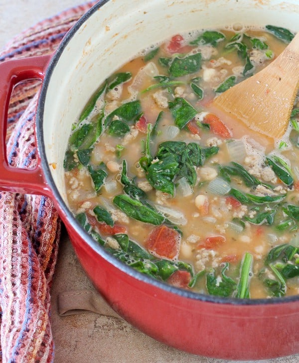 This healthy soup recipe comes together in 20 minutes or less, but it is packed full of protein, vegetables, and most importantly, flavor! Your whole family will love it. Get the healthy soup recipe on RachelCooks.com!