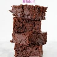 Brownies made lighter using black beans! Get the black bean brownie recipe on RachelCooks.com