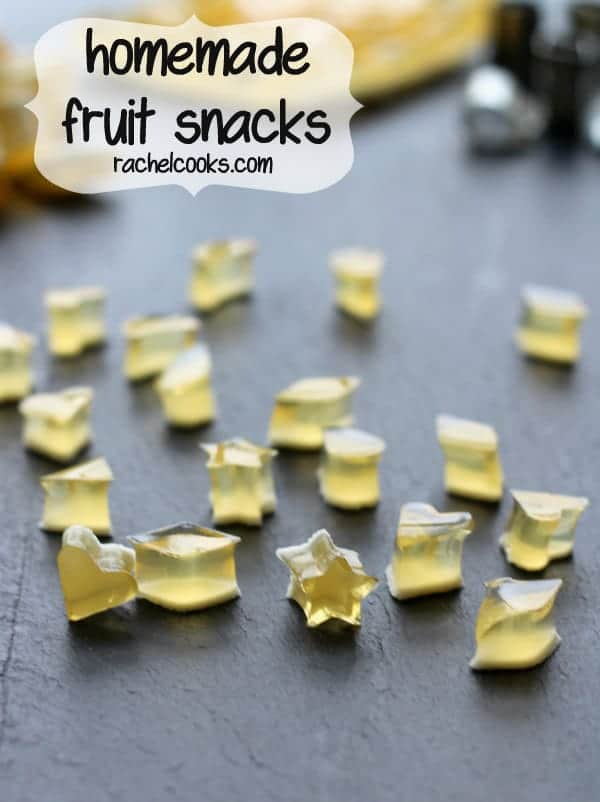 Fruit snacks are easy to make at home -- and you control the flavors and ingredients. You will love these homemade fruit snacks. Get the easy recipe on RachelCooks.com!