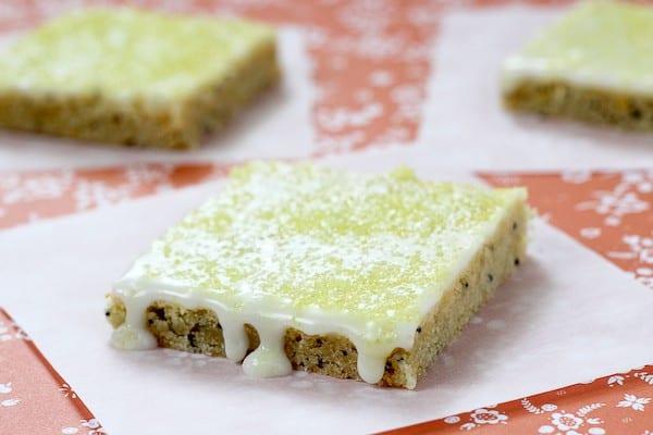 Meyer Lemon Poppy Seed Bars on RachelCooks.com