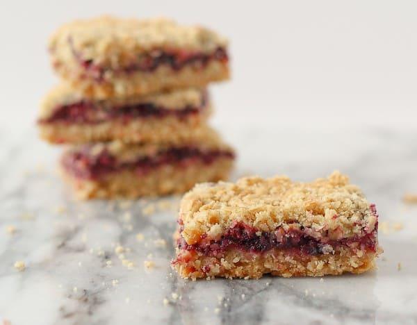 blackberry blueberry crumb bars on Rachel Cooks