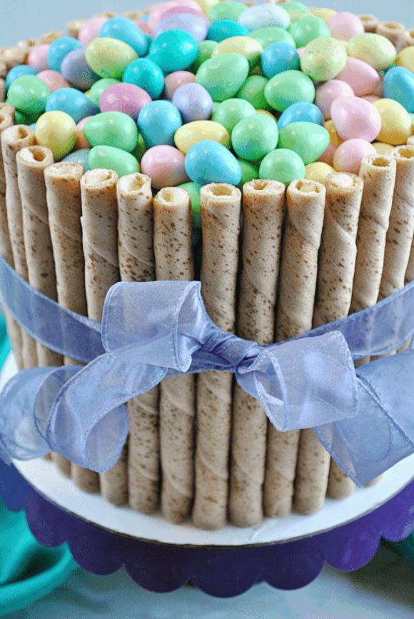 30 Minute Easter Basket Cake from SomethingSwanky.com