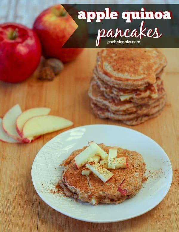 Apple Quinoa Pancakes on RachelCooks.com