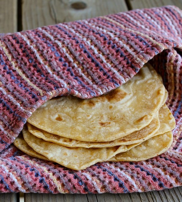 Southwestern Homemade Flour Tortillas -- a great twist on a classic. Find the recipe on RachelCooks.com