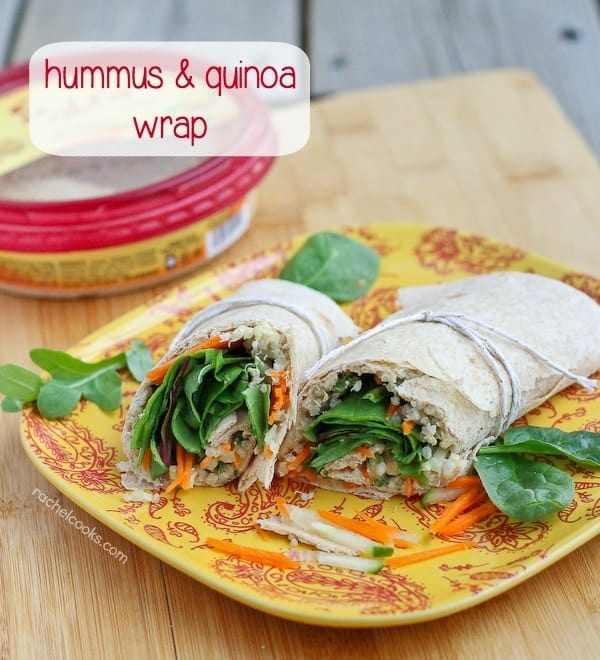 Quinoa Hummus Wrap on RachelCooks.com - a great vegetarian lunch!