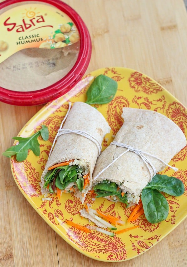 Quinoa Hummus Wrap on RachelCooks.com - a healthy, vegetarian meal