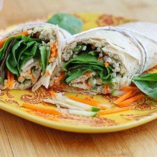 Quinoa Hummus Wrap