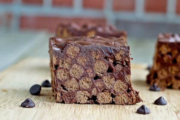 Triple Chocolate Cocoa Puffs Krispy Bars on RachelCooks.com