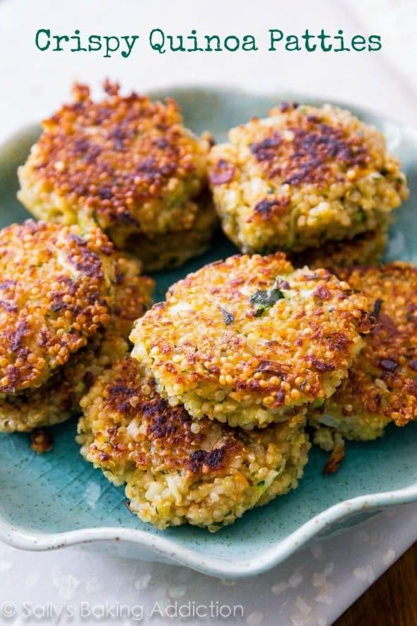 Crispy Quinoa Patties from SallysBakingAddiction.com
