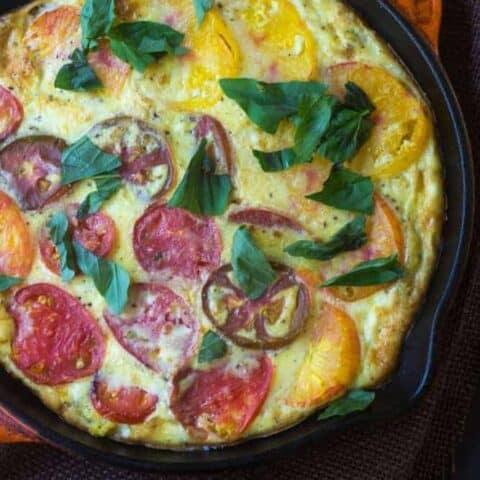 Heirloom Tomato and Polenta Quiche
