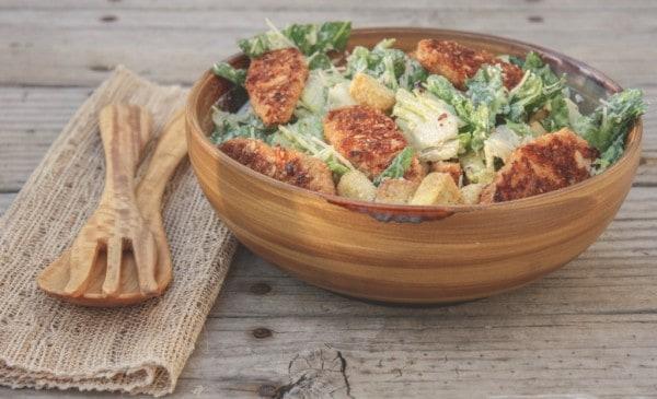 Vegetarian Caesar Salad from SweetPhi.com