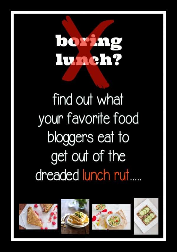 Go-to lunch ideas from more than 20 superstar bloggers - get them on RachelCooks.com