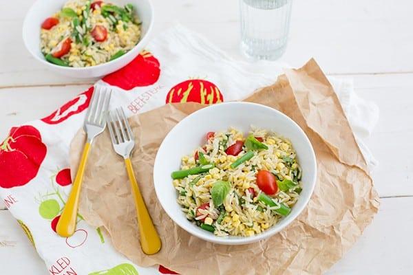 Summer Orzo Salad on OhMyVeggies.com