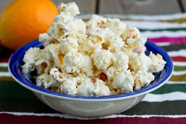 Orange Creamsicle Popcorn on RachelCooks.com