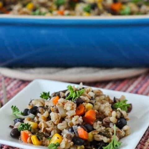 Barley, Bulgur and Vegetable Vegan Casserole