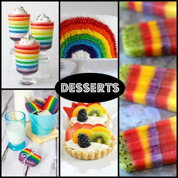Desserts for a rainbow themed birthday party! RachelCooks.com