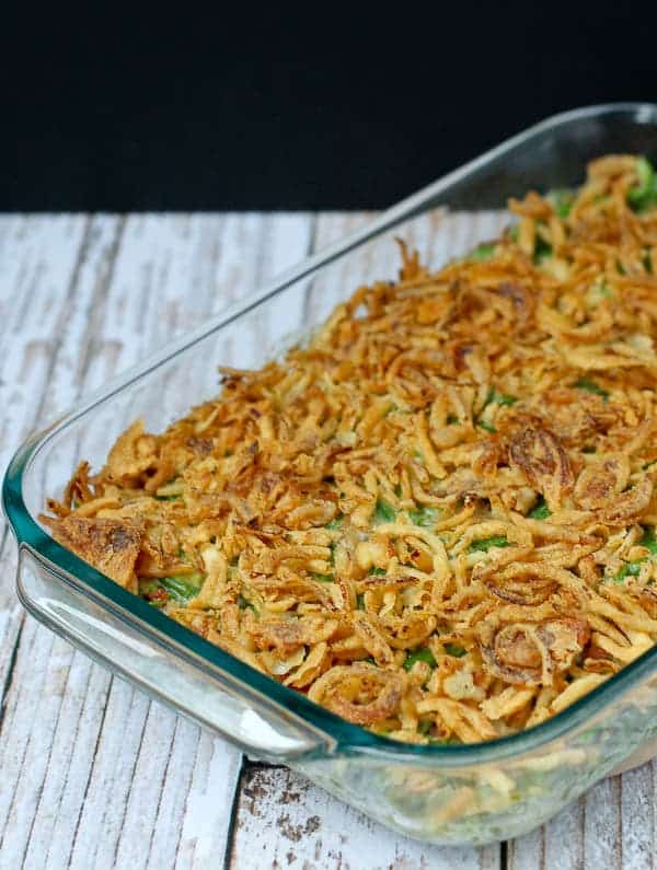 Green Bean Casserole Recipe - No Canned Soup! Find the recipe on RachelCooks.com