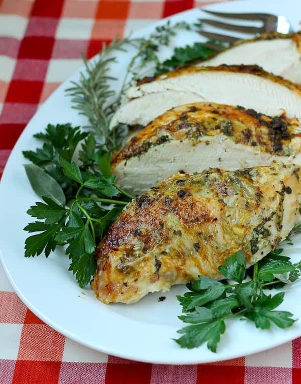 Herb Roasted Turkey Breast Recipe on RachelCooks.com