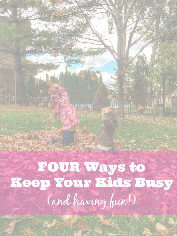 FOUR ways to keep your kids busy and having fun! Get the scoop on RachelCooks.com