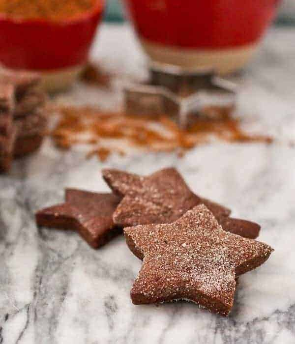 Peppermint Chocolate Sugar Cookies - Festive Christmas cookies perfect for the chocolate lover! Find them on RachelCooks.com