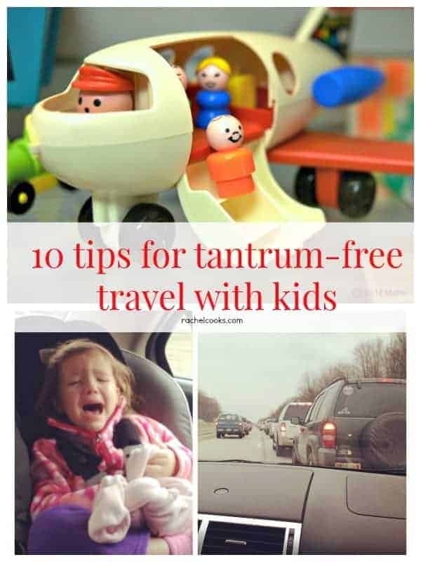 10 Tips for Traveling with Kids - Especially around the holidays! Find them on RachelCooks.com