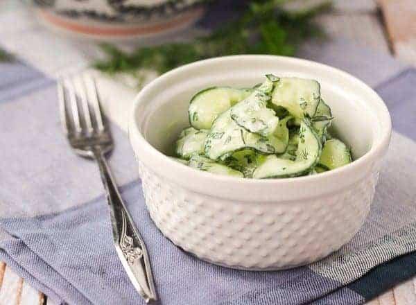 Cucumber Ribbon Salad with Yogurt Herb Dressing
