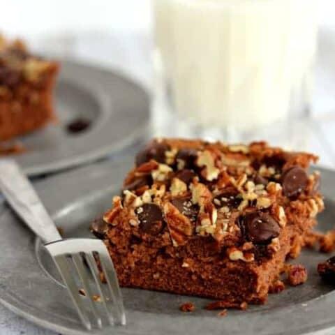 Easiest Double Chocolate Pecan Cake