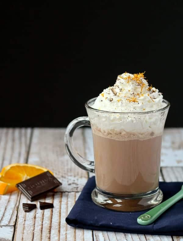 Orange Hot Chocolate Recipe - Get it on RachelCooks.com