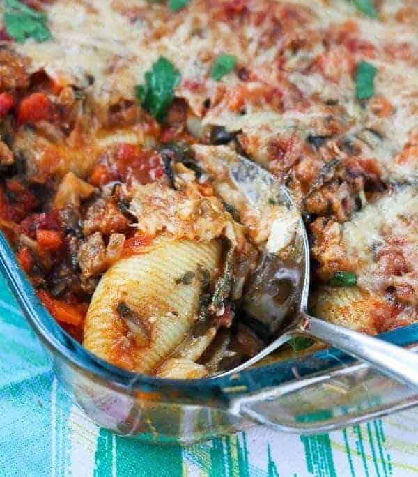 Vegetable Packed Stuffed Shells Recipe - Get it on RachelCooks.com