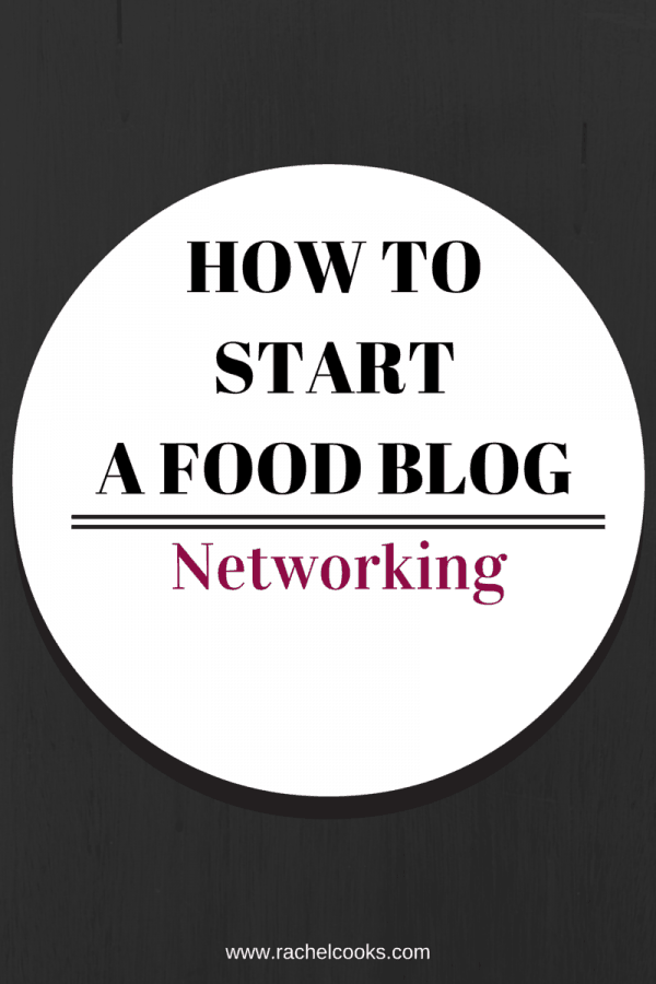 An important part of food blogging is networking -- find out how to network with other bloggers in this post on RachelCooks.com - 5 easy techniques!