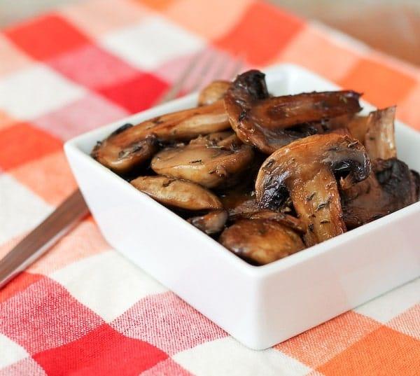 Easy Marsala Roasted Mushrooms on RachelCooks.com