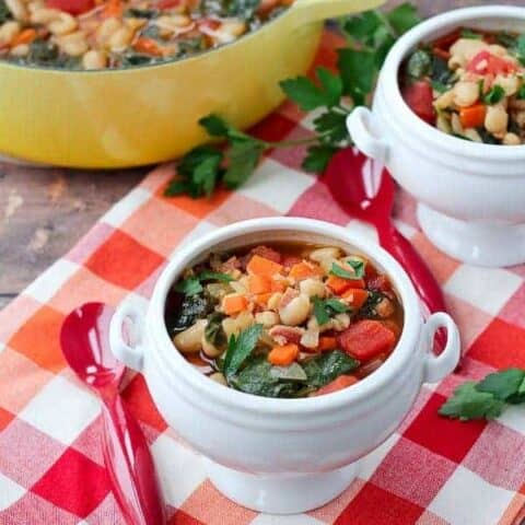 Pancetta and White Bean Soup with Kale