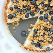 Yogurt Tart with Oat Crust and Crunchy Oat Topping - Get the recipe on RachelCooks.com!