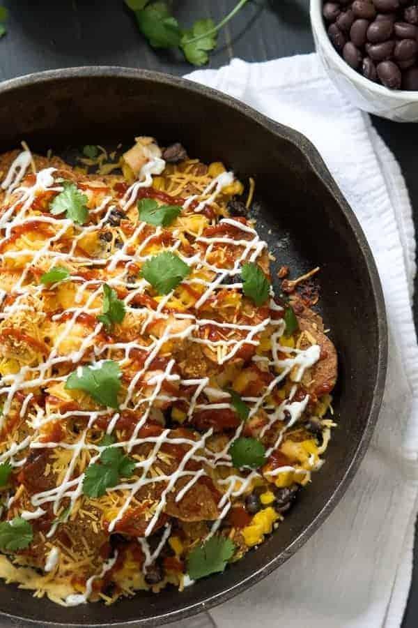 BBQ Chicken Sweet Potato Nachos - You'll love these easy Nachos! Get the recipe on RachelCooks.com!