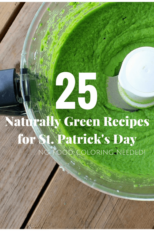 25 Naturally Green Recipes for St. Patrick's Day - No food coloring needed! Get them on RachelCooks.com