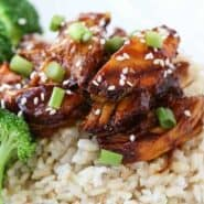 Slow Cooker Chicken Teriyaki - Get the recipe on RachelCooks.com